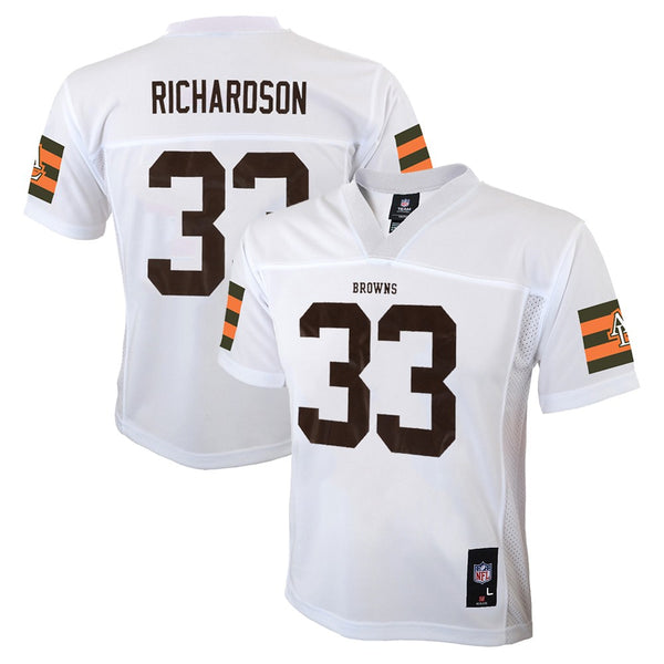 Trent Richardson NFL Cleveland Browns Mid Tier Away White Jersey Boys SZ (4-7)