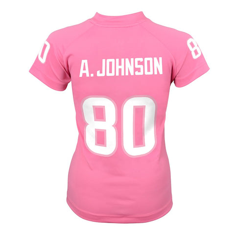 Andre Johnson NFL Houston Texans Replica Pink Fashion Jersey Girls Youth XL