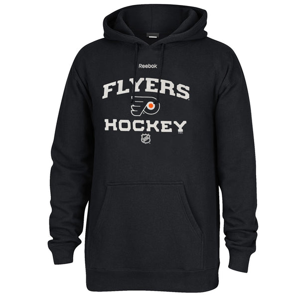 Philadelphia Flyers NHL Black Authentic Locker Room Graphic Pullover Hoodie