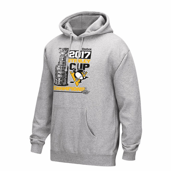 Pittsburgh Penguins NHL Grey 2017 Stanley Cup Champions Locker Room Hoodie