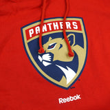 "Florida Panthers NHL Reebok Red Team Logo ""Jersey Crest"" Pullover Hoodie"