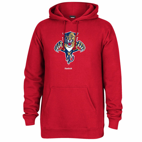 "Florida Panthers NHL Reebok Red Primary Logo ""Jersey Crest"" Pullover Hoodie"