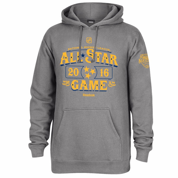 All Star Game NHL Reebok Grey 2016 NHL All Star Nashville Pullover Hoodie