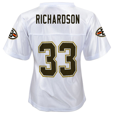Trent Richardson NFL Cleveland Browns Replica White Jersey Girls Youth XS-XL 06e1f413c