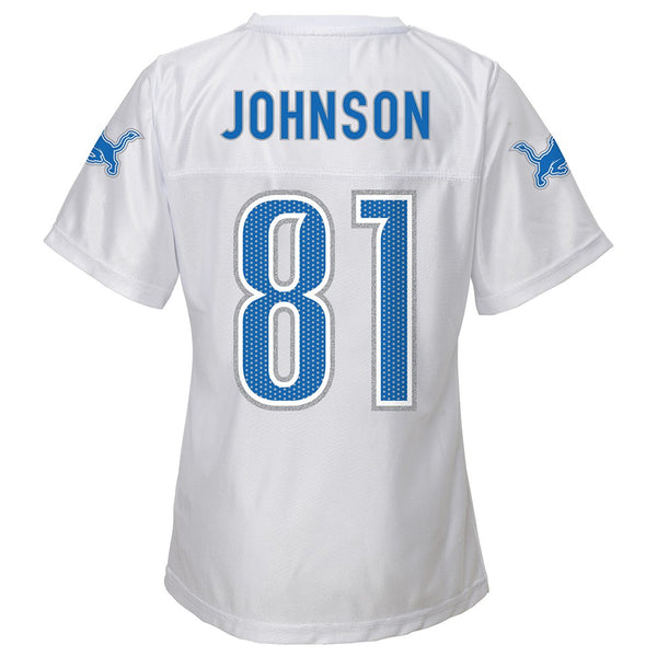 Calvin Johnson NFL Detroit Lions Replica Away White Jersey Girls Youth (XS-XL)