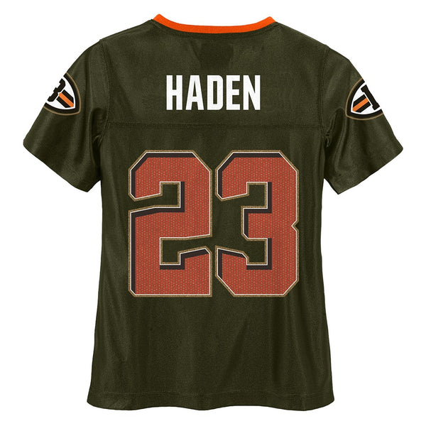 Joe Haden NFL Cleveland Browns Mid Tier Fashion Jersey Girls Youth (7-16)