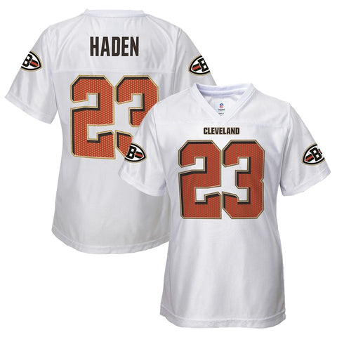 Joe Haden NFL Cleveland Browns Replica Away White Jersey Girls Youth (XS-XL)
