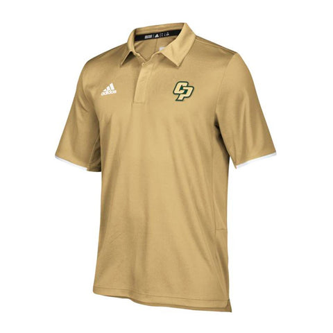 Cal Poly Mustangs NCAA Adidas Men's 2018 Sideline Sand Polo Shirt