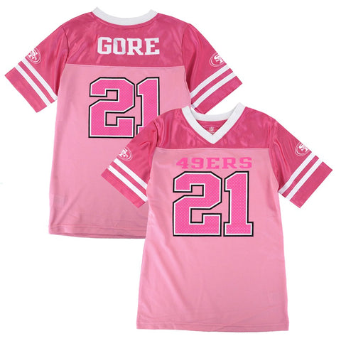 Frank Gore NFL San Francisco 49ers Mid Tier Fashion Jersey Girls Youth (7-16)