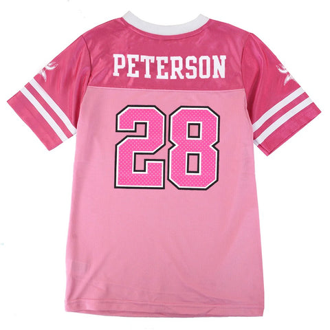 Adrian Peterson NFL Oakland Raiders Mid Tier Replica Pink Jersey Girls (7-16)