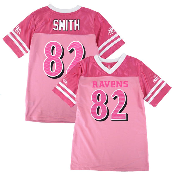 Torrey Smith NFL Baltimore Ravens Mid Tier Fashion Jersey Girls Youth (7-16)