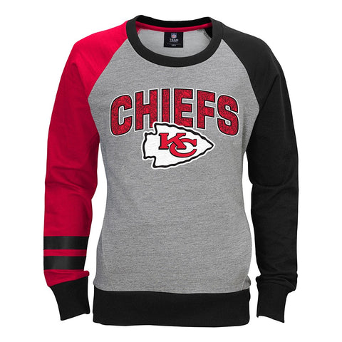 "Kansas City Chiefs NFL ""Amethyst"" Long Sleeve Crew Fleece Girls Youth (S-XL)"