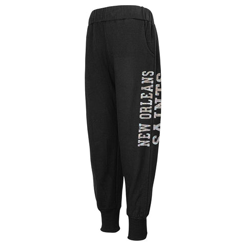 New Orleans Saints NFL Team Color Shimmering Harem Pants Girls Youth