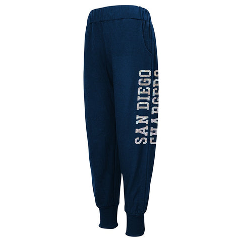 San Diego Chargers NFL Team Color Shimmering Harem Pants Girls Youth
