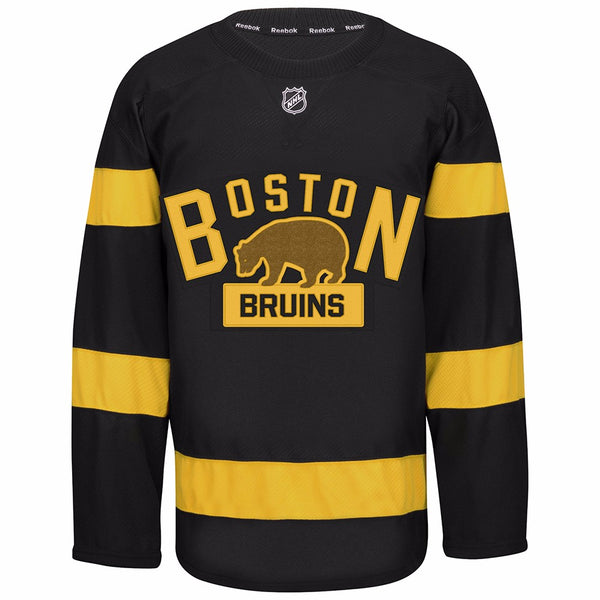 Boston Bruins NHL Reebok Black 2016 Authentic On-Ice Edge 2.0 Jersey