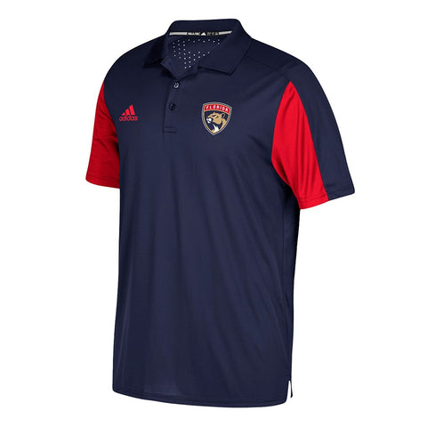 Florida Panthers NHL Center Ice Navy Blue Authentic Pro Game Day Polo Shirt