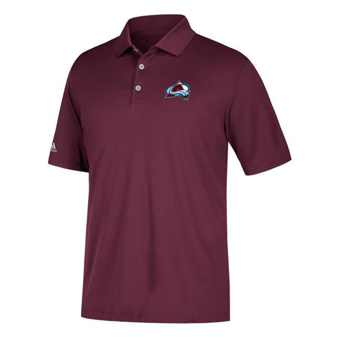 Colorado Avalanche NHL Adidas Men's Climacool Maroon Golf Polo Shirt