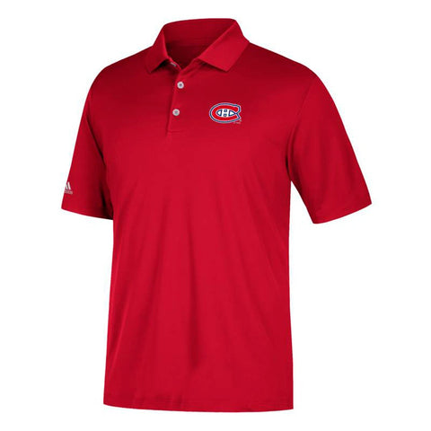 Montreal Canadiens NHL Adidas Men's Climacool Red Golf Polo Shirt