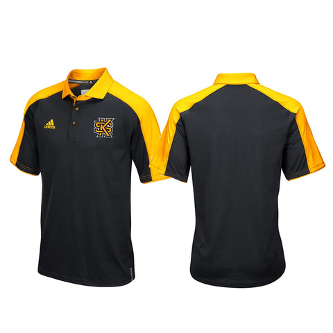 Kennesaw State Owls NCAA Adidas Climalite Football Coaches Black Polo Shirt
