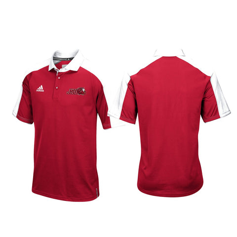 Jacksonville State Gamecocks NCAA Adidas Football Coaches Red Polo Shirt (L)