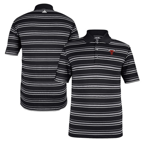 Chicago Bulls NBA Adidas Men's Black Puremotion Performance Golf Polo Shirt