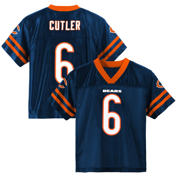 Jay Cutler NFL Chicago Bears Dazzle Replica Navy Blue Home Jersey Youth (XS-2XL)