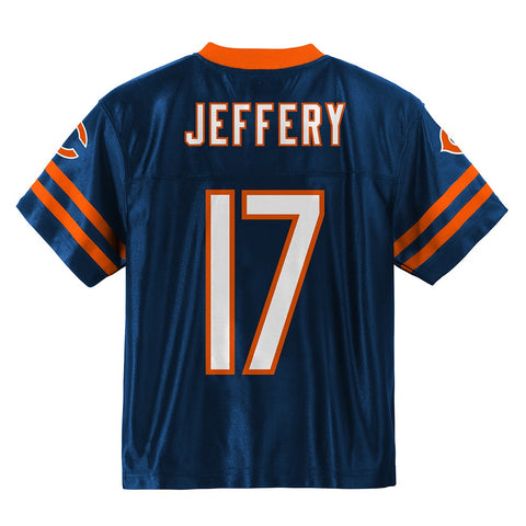 Alshon Jeffery NFL Chicago Bears Mid Tier Home Navy Blue Jersey Youth (XS-2XL)