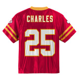 Jamaal Charles NFL Kansas City Chiefs Home Red Youth Replica Jersey Size (S-XL)