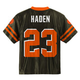 Joe Haden NFL Cleveland Browns Home Brown Youth Replica Jersey Size (S-XL)