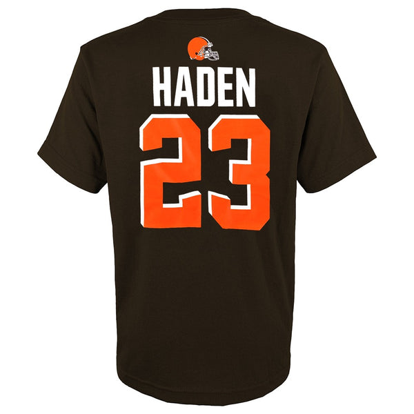 Joe Haden NFL Cleveland Browns Player Name & Number Jersey T-Shirt Youth (XS-XL)
