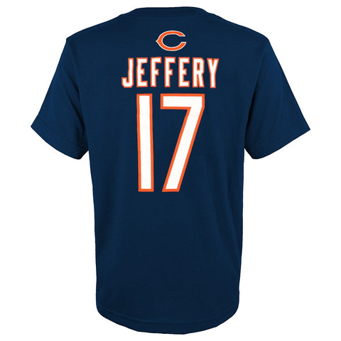 Alshon Jeffery NFL Chicago Bears Name & Number Jersey Navy T-Shirt Youth (XS-XL)