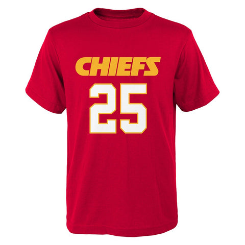 Jamaal Charles NFL Kansas City Chiefs Red Jersey N&N T-Shirt Youth (S-XL)