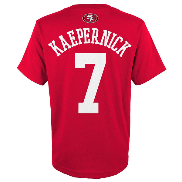 Colin Kaepernick NFL San Francisco 49ers Red Jersey N&N T-Shirt Youth (S-XL)