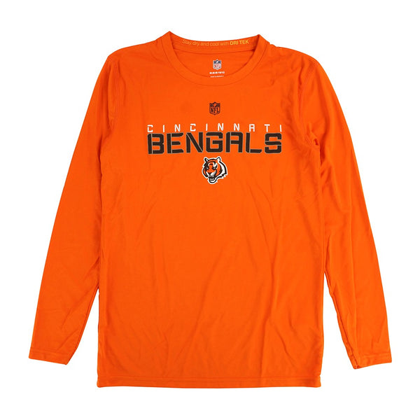 "Cincinnati Bengals NFL Youth Orange ""Maximal"" Dri-Tek Long Sleeve T-Shirt"