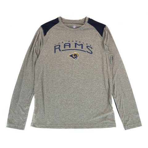 "Los Angeles Rams NFL Youth's Grey ""Half Moon"" Long Sleeve Performance T-Shirt"