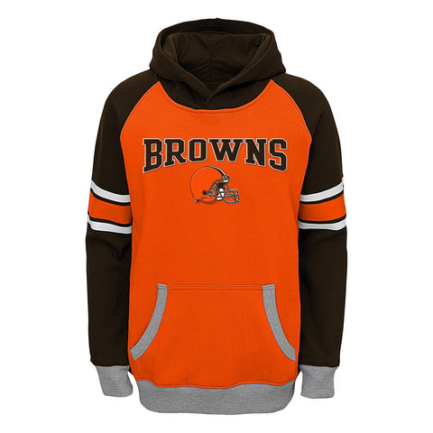 "Cleveland Browns NFL ""Robust"" Performance Pullover Hoodie Fleece Youth (S-XL)"