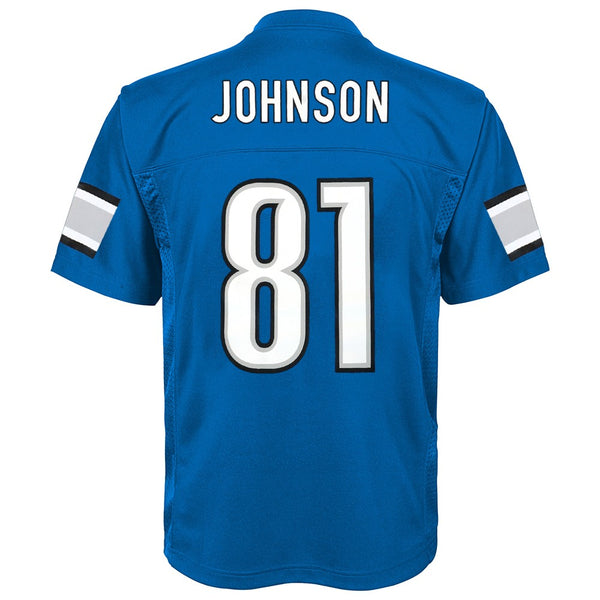 Calvin Johnson NFL Detroit Lions Mid Tier Home Blue Replica Jersey Youth (S-XL)