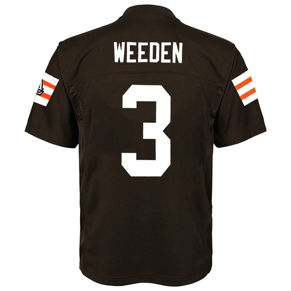Brandon Weeden NFL Cleveland Browns Mid Tier Home Brown Jersey Youth (S-XL)
