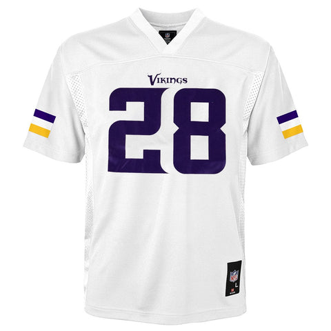 Adrian Peterson NFL Minnesota Vikings Mid Tier Away White Jersey Youth (S-XL)