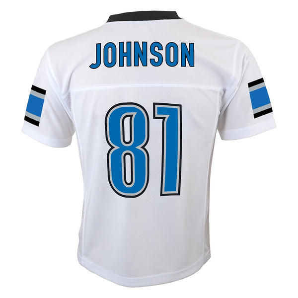 Calvin Johnson NFL Detroit Lions Mid Tier Away White Replica Jersey Youth (S-XL)