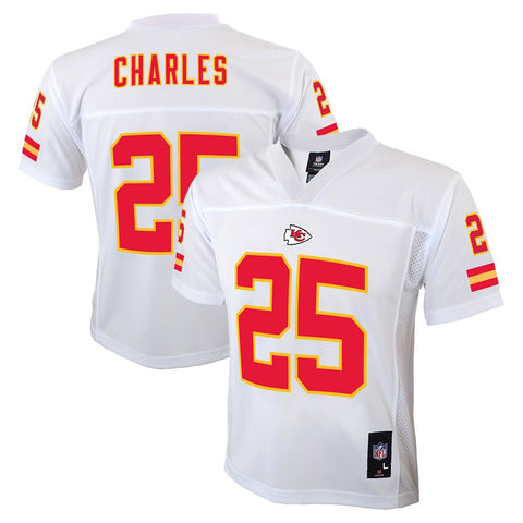 Jamaal Charles NFL Kansas City Chiefs Mid Tier Away White Jersey Youth (S-XL)