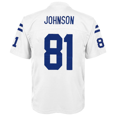 Andre Johnson NFL Indianapolis Colts Mid Tier Home White Jersey Youth (S-XL)