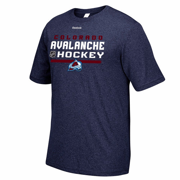 Colorado Avalanche NHL Reebok Navy Authentic Locker Room Graphic Rush T-Shirt
