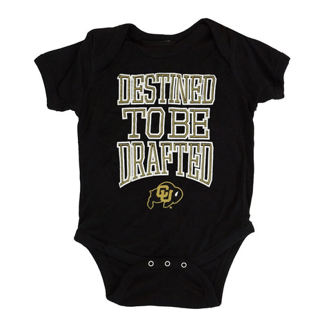 "Colorado Buffaloes NCAA Outerstuff Newborn Black ""Destined"" Creeper"