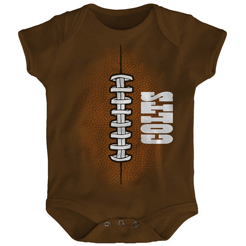 "Indianapolis Colts NFL Outerstuff Newborn Brown ""Mini Football"" Creeper"