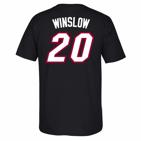 Justise Winslow Miami Heat NBA Black Name & Number Player Jersey T-Shirt