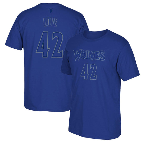 Kevin Love NBA Minnesota Timberwolves Christmas Day Men's Blue Name & Num Shirt