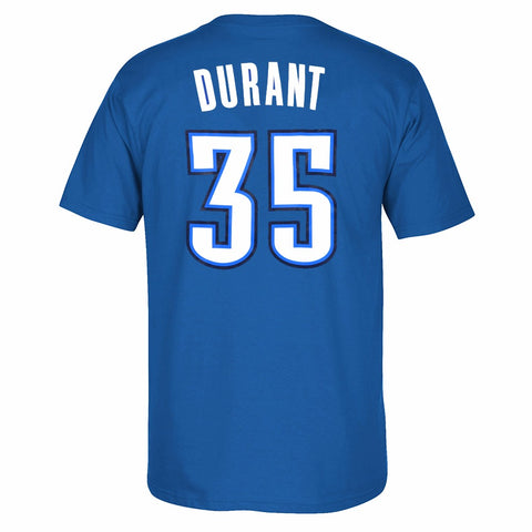 Kevin Durant Oklahoma City Thunder NBA Adidas Blue Name & Number Jersey T-Shirt