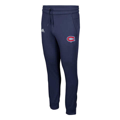 Montreal Canadiens NHL Adidas Men's Climawarm Navy Blue Tech Fleece Pants
