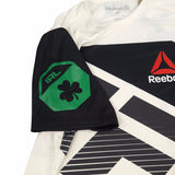 Conor McGregor UFC Reebok White Green Official Fight Kit Walkout Jersey Men's